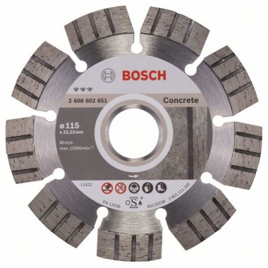 Алмазный диск Best for Concrete 115x22,23x2,2x12 мм Bosch 2608602651