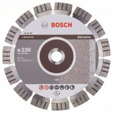 Алмазный диск Best for Abrasive 230x22,23x2,4x15 мм Bosch 2608602683