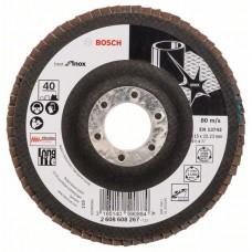 Лепестковый шлифкруг X581 Best for Inox 115x22,23 мм, 40 Bosch 2608608267