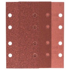 Набор из 10 шлифлистов для виброшлифмашин 93x185, 4x60; 4x120; 2x180 Bosch 2609256A86