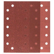 Набор из 10 шлифлистов для виброшлифмашин 115x230, 4x60; 4x120; 2x180 Bosch 2609256B25