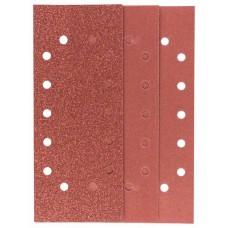 Набор из 10 шлифлистов для виброшлифмашин 115x280, 4x60; 4x120; 2x180 Bosch 2609256B32