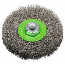 Кольцевая щетка нерж. 115 мм, 0,3 мм, M14 Bosch 2608622107
