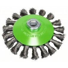 Коническая щетка нерж. 115 мм, 0,35 мм, M14 Bosch 2608622109