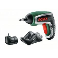 Аккумуляторная отвертка Bosch IXO Medium c угловой насадкой (0603981021)