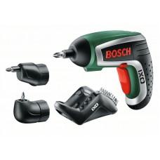 Аккумуляторная отвертка Bosch IXO Full c угловой и эксцентриковой насадкой (0603981022)