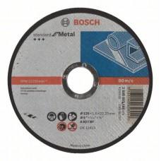 Отрезной диск прямой Standard for Metal A 60 T BF 125x22,23x1,6 мм Bosch 2608603165
