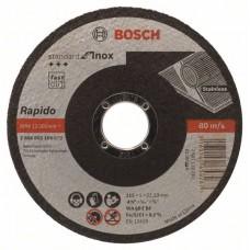 Отрезной круг прямой Standard for Inox - Rapido WA 60 T BF 115x22,23x1,0 мм Bosch 2608603169
