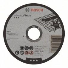 Отрезной круг прямой Standard for Inox WA 60 T BF 115x22,23x1,6 мм Bosch 2608603170