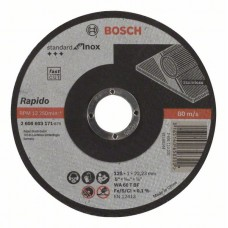 Отрезной круг прямой Standard for Inox - Rapido WA 60 T BF 125x22,23x1,0 мм Bosch 2608603171