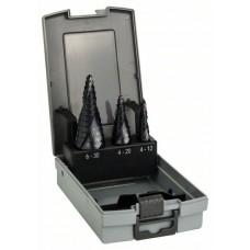 Набор из 3 ступенчатых сверл HSS-AlTiN 4-12; 4-20; 6-30 мм Bosch 2608588069