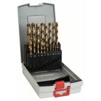 Набор сверл по металлу из 19 предм. ProBox HSS-TiN (титановое покрытие) 1-10 мм Bosch 2608587015