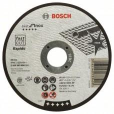 Отрезной круг прямой Best for Inox, Rapido A 60 W INOX BF 125x0,8 мм Bosch 2608603488