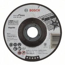 Отрезной круг выпуклый Best for Inox, Rapido A 60 W INOX BF 125x1,0 мм Bosch 2608603493