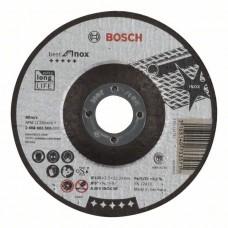 Отрезной круг выпуклый Best for Inox A 30 V INOX BF 125x2,5 мм Bosch 2608603505