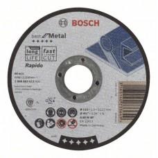Отрезной круг прямой Best for Metal, Rapido A 60 W BF 115x1,0 мм Bosch 2608603512