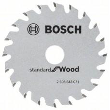 Пильный диск Optiline Wood 85x15x1,1 мм, 20 Bosch 2608643071